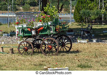Monastery St John the Baptist - Wagon covered with flowers...