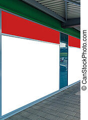Blank store front window as copy space for graphics design...