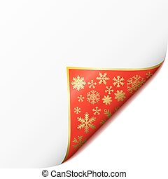 Christmas page curl - White vector page curled corner....