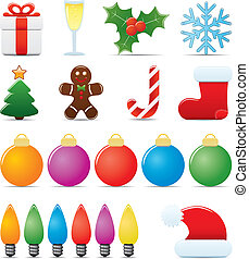 Christmas Icon Set Easy To Edit Vector Image