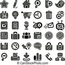 Web icon set - Retro styled web icon set