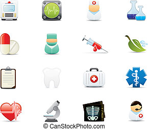 Medical Icon Set - Healthcare and Medical Icon Set. Easy To...
