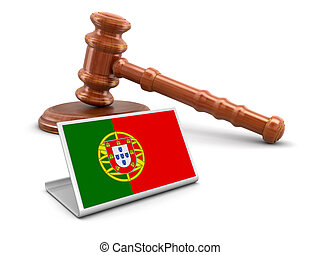 3d mallet and Portuguese flag
