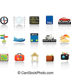 Travel Icon Set. Easy To Edit Vector Image.