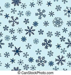 Snow Seamless Blue Vector Background. Seamless Background...