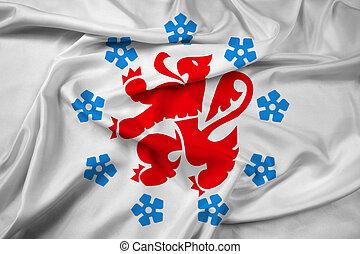 Waving Flag of the German-speaking Community of Belgium