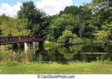 Bridge Over Coopers Causeway - Bridge spans the Yahara River...
