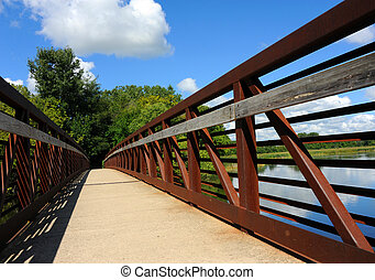 Bridge Over Yahara River and Causeway - Yahara River Trail...