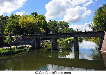 Coopers Causeway Bridge - Yahara River flows beneath the...