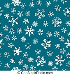 Snow Seamless Vector Background - Snow Seamless Dark Blue...