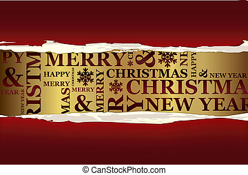 Merry Christmas greeting card Vector Christmas collection