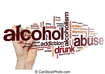 Alcohol abuse word cloud concept
