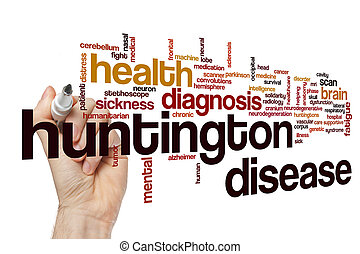 Huntington disease word cloud concept - Huntington disease...