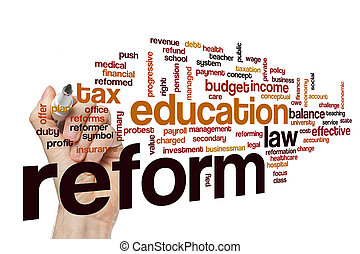 Reform word cloud concept