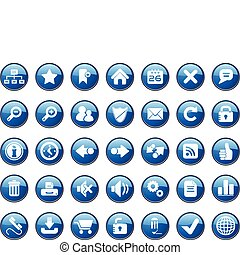 Internet Icon Set Easy To Edit Vector