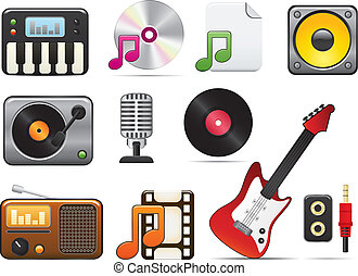 Music Icon Set One Easy To Edit Vector Image