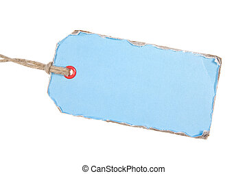 Light Blue Paper Tag - Light Blue Cardboard Label Isolated...