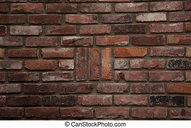 Pattern Brick - Old brick wall with 3 vertical brick...