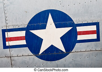 USA Air Force Insignia Close-Up