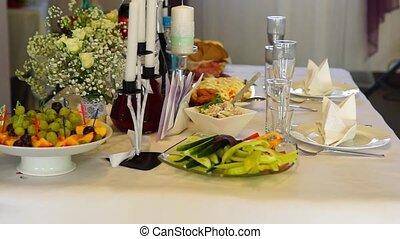 Restaraunt festive table tilt up