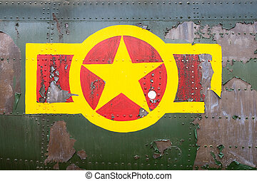 Vietnam military sign on the helicopter fuselage