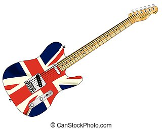 Union Jack Slab Guitar - A classic electric guitar with the...