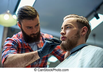 Professional - Working man in barber shop
