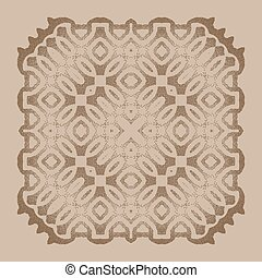 Vector dotted pattern frame or a gravure style ornament....