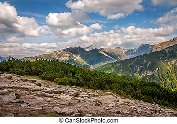 Mountain landscape High Tatras, Poland - Hiking in the...