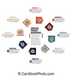 Circular Process Infographic - Vector illustration of...