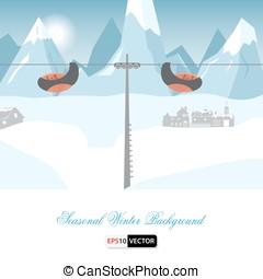 Seasonal winter background - Winter landscape background in...