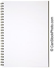 Blank Spiral Notepad isolated on White Ready for your...