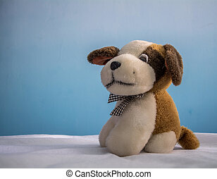Stuffed animal - Stuffed brown and white dog