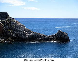 rocha, promontório, de, Portovenere, Um