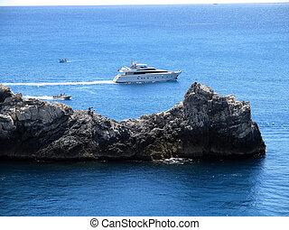 rocha, promontório, de, Portovenere, C