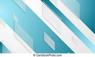 Bright abstract tech geometric video animation - Bright blue...