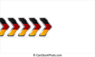 Metallic arrows with German flag colors video clip -...
