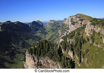 Justistal, valley in the Bernese Oberland - View from Mt...