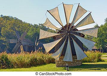 Medieval windmill in Sibiu city