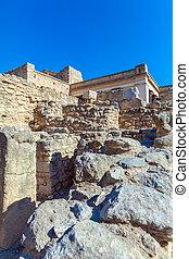Knossos, Palácio, ruínas, Heraklion, crete