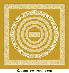 Round and rectangular classical roman or greek frame vector...