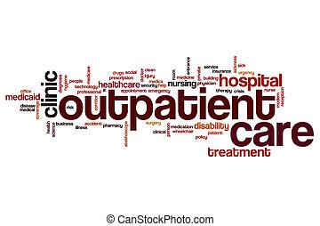 Outpatient care word cloud concept