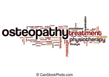 Osteopathy word cloud concept
