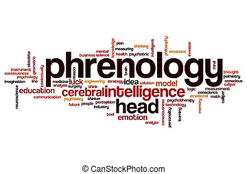 Phrenology word cloud concept
