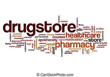 Drugstore word cloud concept