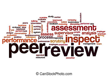 Peer review word cloud concept