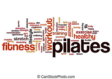 Pilates word cloud concept