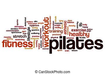 Pilates word cloud concept