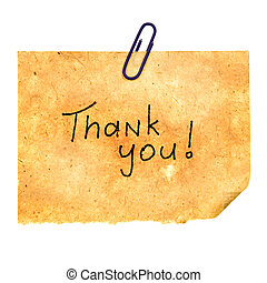 Thank You Message Isolated on White