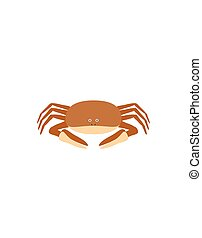 Funny crab character - Crab illustration as a funny...